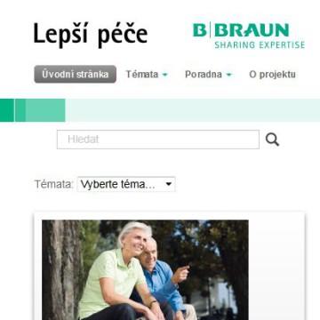 Webová prezentace Lepší péče mobilní zařízení