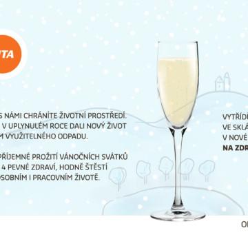 Interaktivní novoroční přání SITA CZ - fáze 14 - závěrečné nalití skleničky a přání