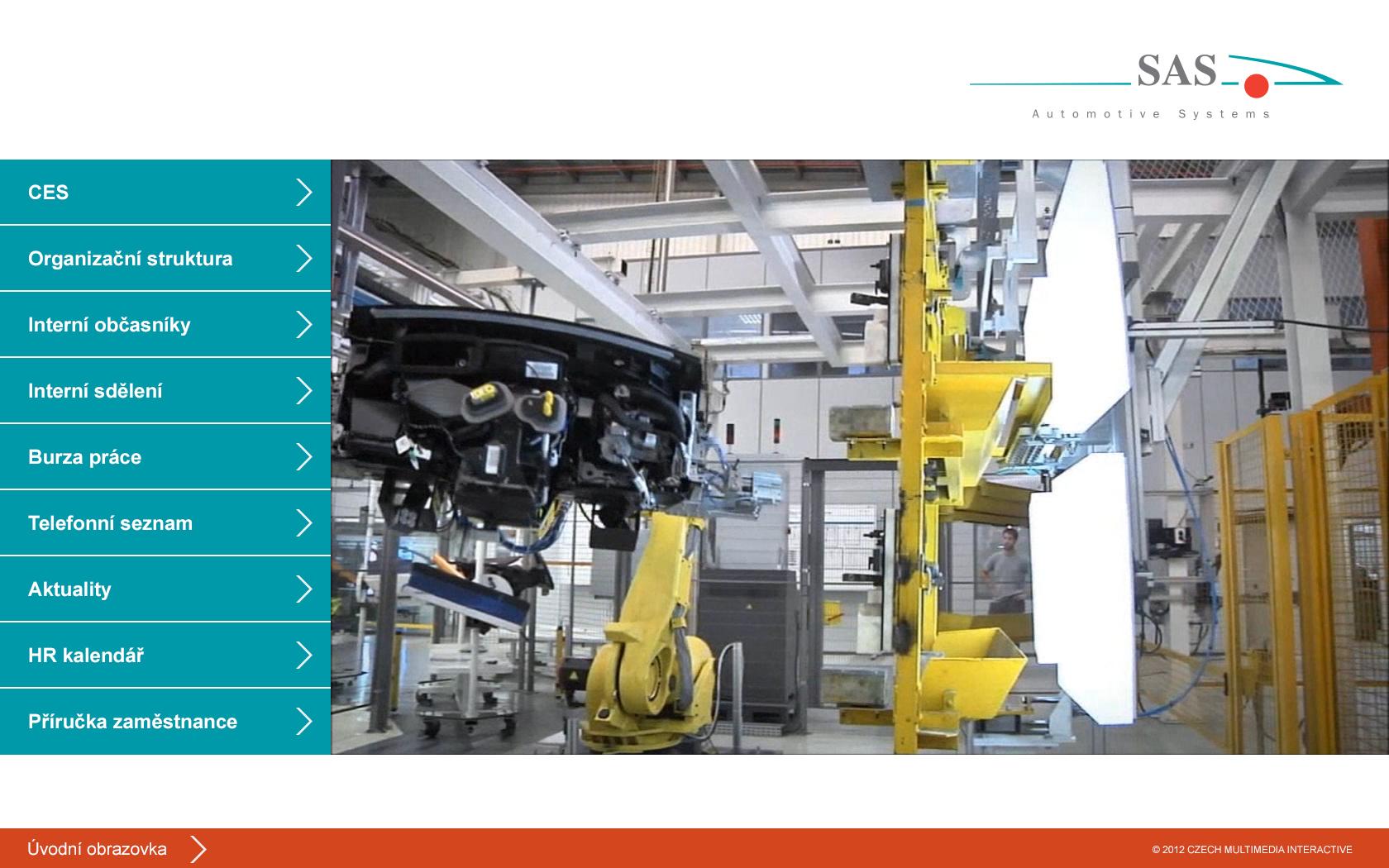 Kiosek a software SAS Automotive 5