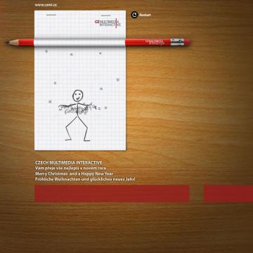 Digitální novoročenka CZECH MULTIMEDIA INTERACTIVE 2011