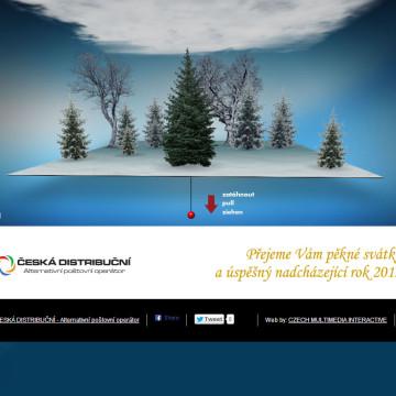 Digitální novoročenka Česká distribuční 2013