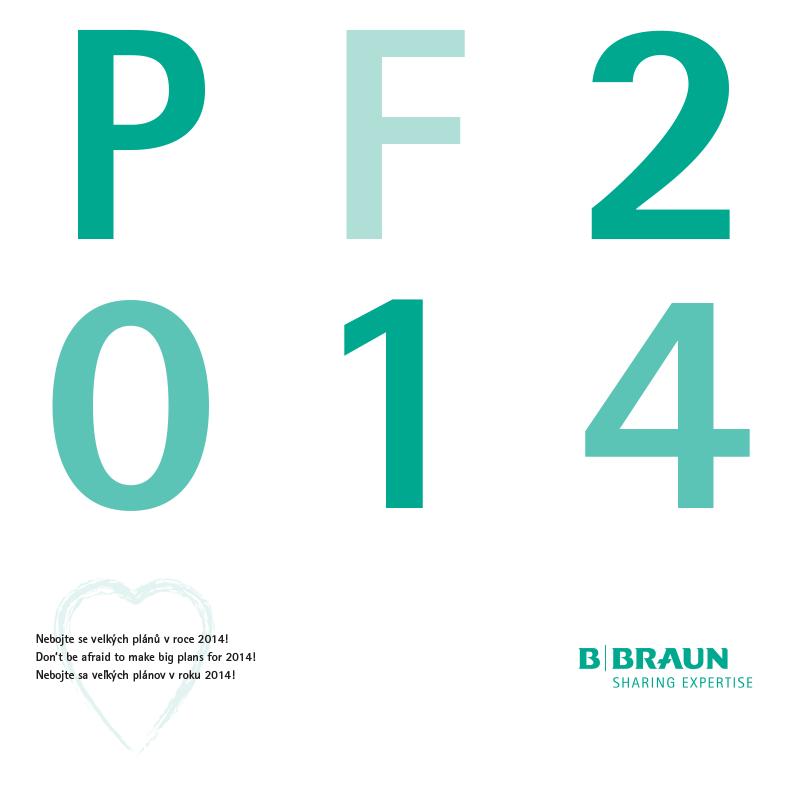 Tisková novoročenka B. Braun 2014 - vnitřní strana