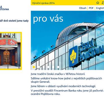 Česká pojišťovna elektronická výroční zpráva 2014