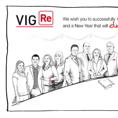 Digitální novoročenka VIG Re 2013
