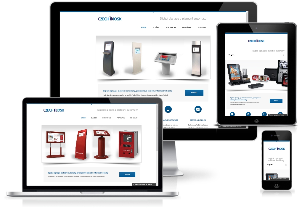 CZECH KIOSK web responsive