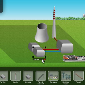 Logická hra elektrarna2