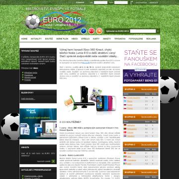 Web EURO 2012.cz - mistrovství ve fotbale 2