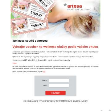 Interaktivní dotazníky v rámci soutěže ARTESA