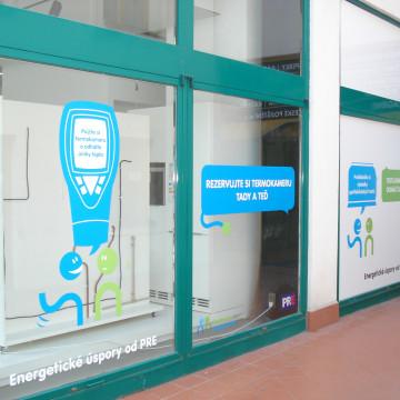 Branding Centra služeb PRE polep výlohy