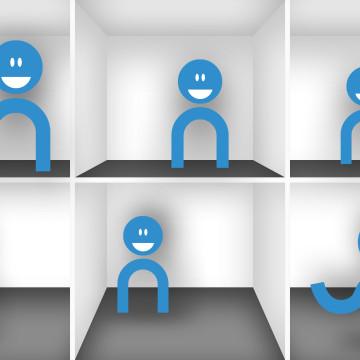 Koncept interaktivní výlohy CEP PRE - maskoti poradci