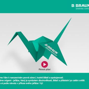 Elektronické narozeninové přání pro B. Braun - HTML email