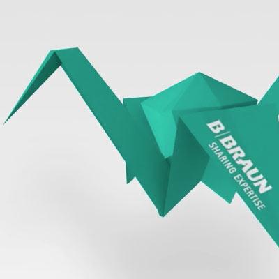 Elektronické narozeninové přání pro B. Braun - animace jeřába