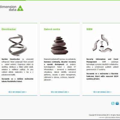 Produktová microsite Dimension Data