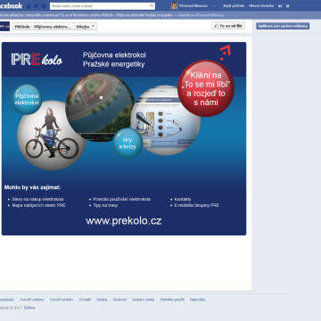 PREkolo na Facebooku landing page