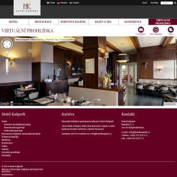 Hotel Kašperk - interaktivní 360° virtuální prohlídka