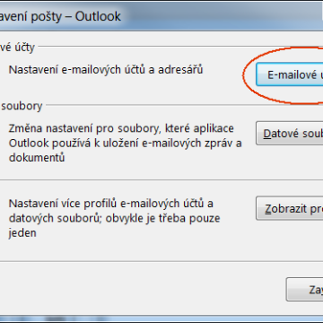 Outlook nastavení ActiveSync - Exchange Server
