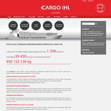 CARGO IHL - úvodní stránka
