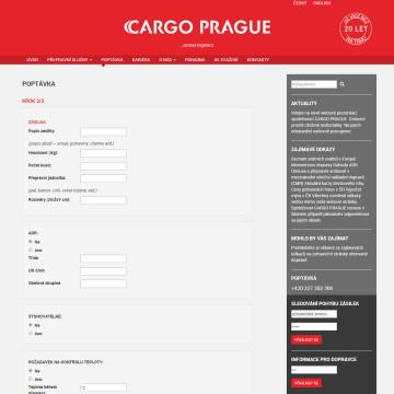 CARGO PRAGUE - formulář pro zadání poptávky