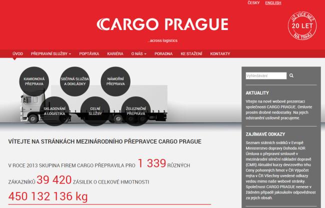 CARGO PRAGUE - úvodní stránka