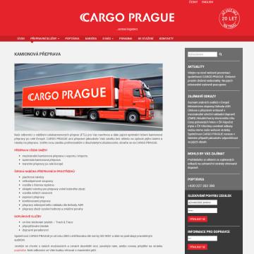 CARGO PRAGUE - ukázka z webové prezentace