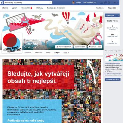 Facebook landing page Boomerang Publishing