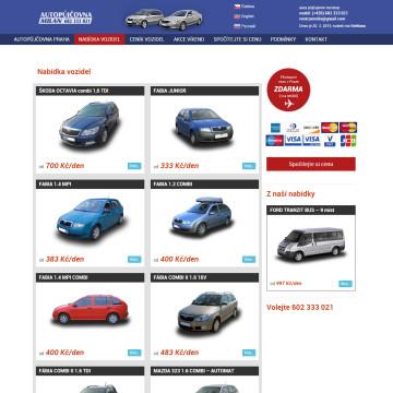 Autopůjčovna Milan - přehled nabízených automobilů