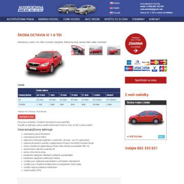 Autopůjčovna Milan - detail vozu