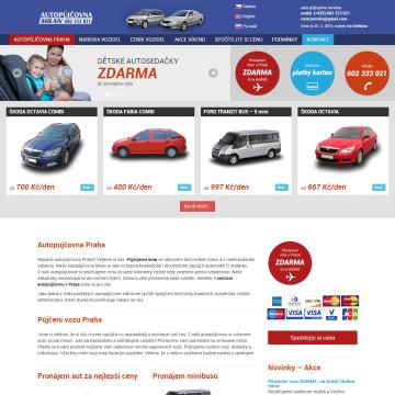 Autopůjčovna Milan - úvodní stránka