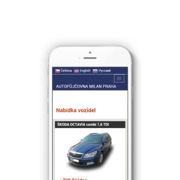 Autopůjčovna Milan - responzivní web