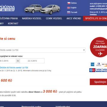 Autopůjčovna Milan - kalkulačka ceny
