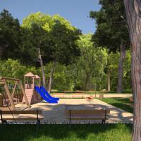 Vizualizace parku a hřiště
