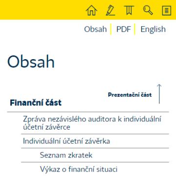 Výroční zpráva České pojišťovny 2014 na telefonu
