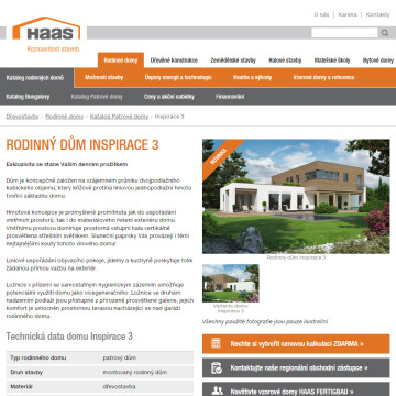 Haas Fertigbau - stránka domu