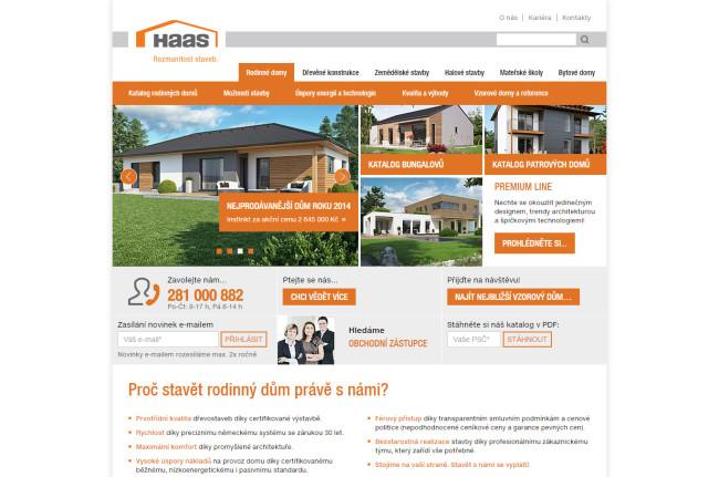 Haas Fertigbau - úvodní strana