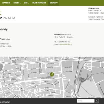 ISP Praha - Stránka s kontakty a mapou