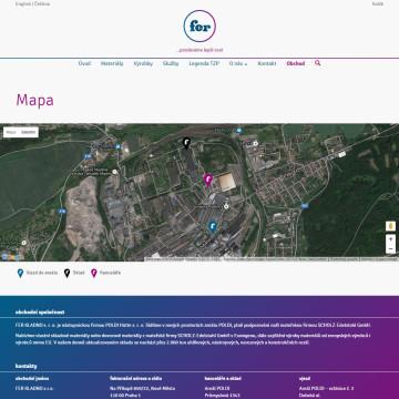 FER Kladno - stránka s mapou