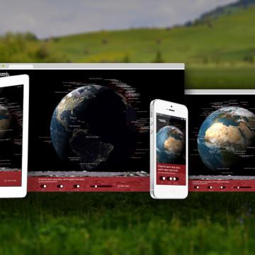Digitální novoročenka CZMI 2016 - zobrazuje se na displejích nejrůznějších velikostí
