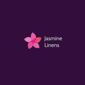 Jasmine Linens - logotyp v inverzní variantě