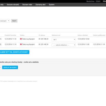 CMS MediaView - správa a monitoring kiosků