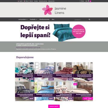 E-shop Jasmine Linens - úvodní strana