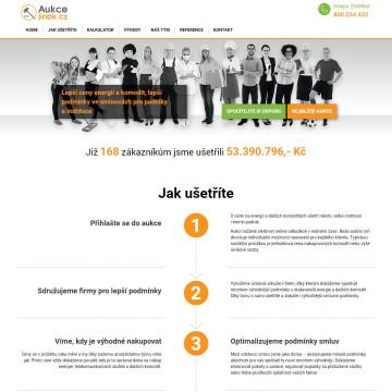 Aukcejinak.cz - úvodní strana, celkový pohled
