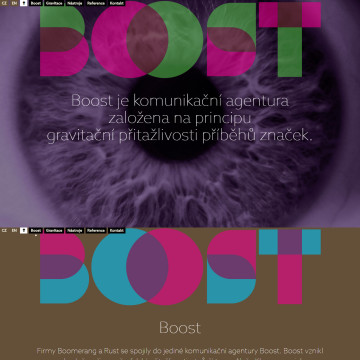 Webová prezentace Boost - celkový pohled