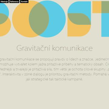 Webová prezentace Boost