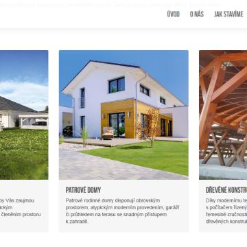Web parallax microsite - Domy z dřeva
