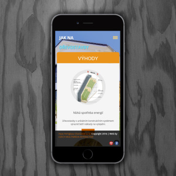 Microsite Jak na dřevostavby - zobrazení na mobilních zařízeních