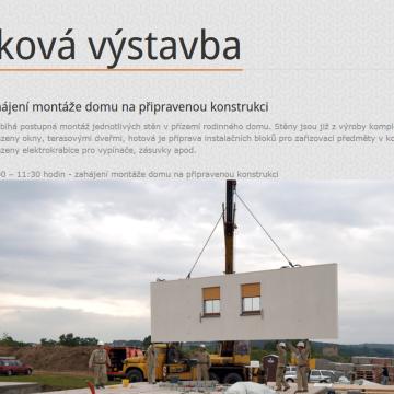 Webová prezentace ABC dřevostavby ukázky