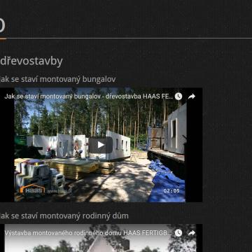 Webová prezentace ABC dřevostavby video