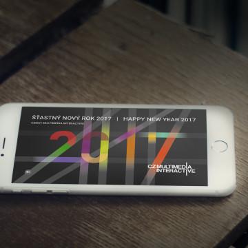Digitální novoročenka CZMI - zobrazení na telefonu