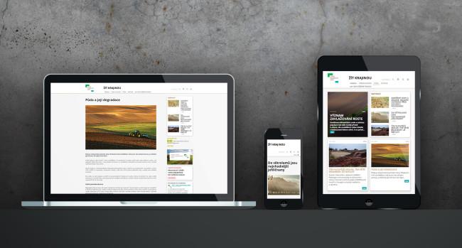 Žít krajinou - responzivní web