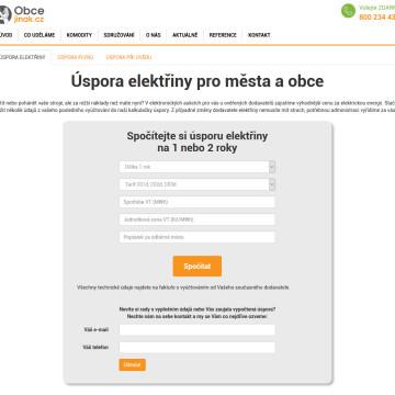 Obcejinak.cz - kalkulačky pro výpočet úspor